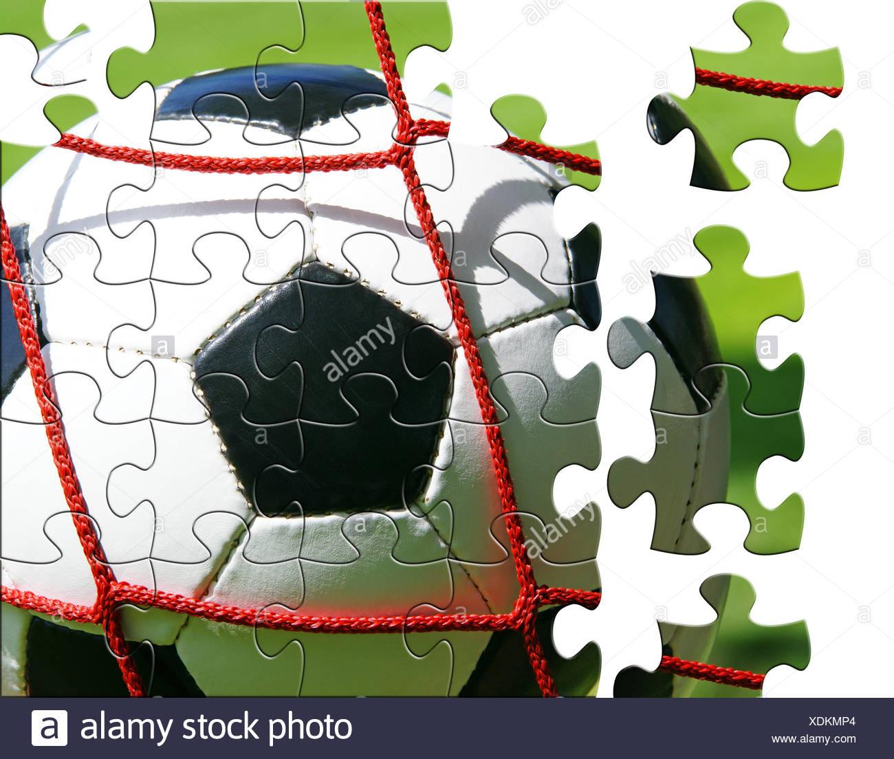 Fussball Puzzle Stockfoto Bild 283789804 Alamy