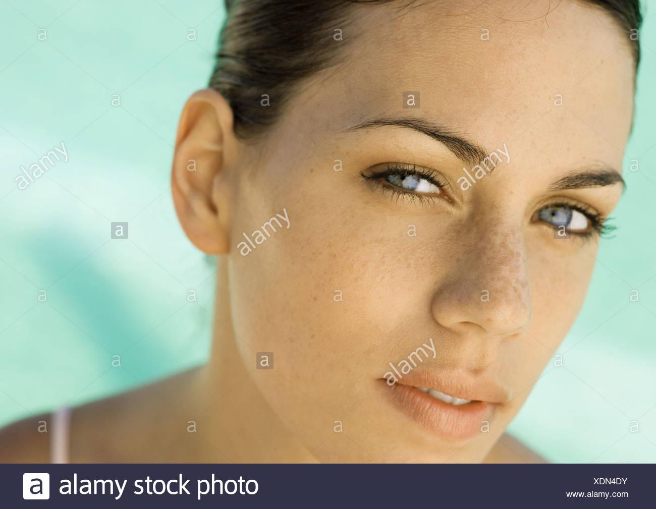 Gesicht der Frau Stockbild