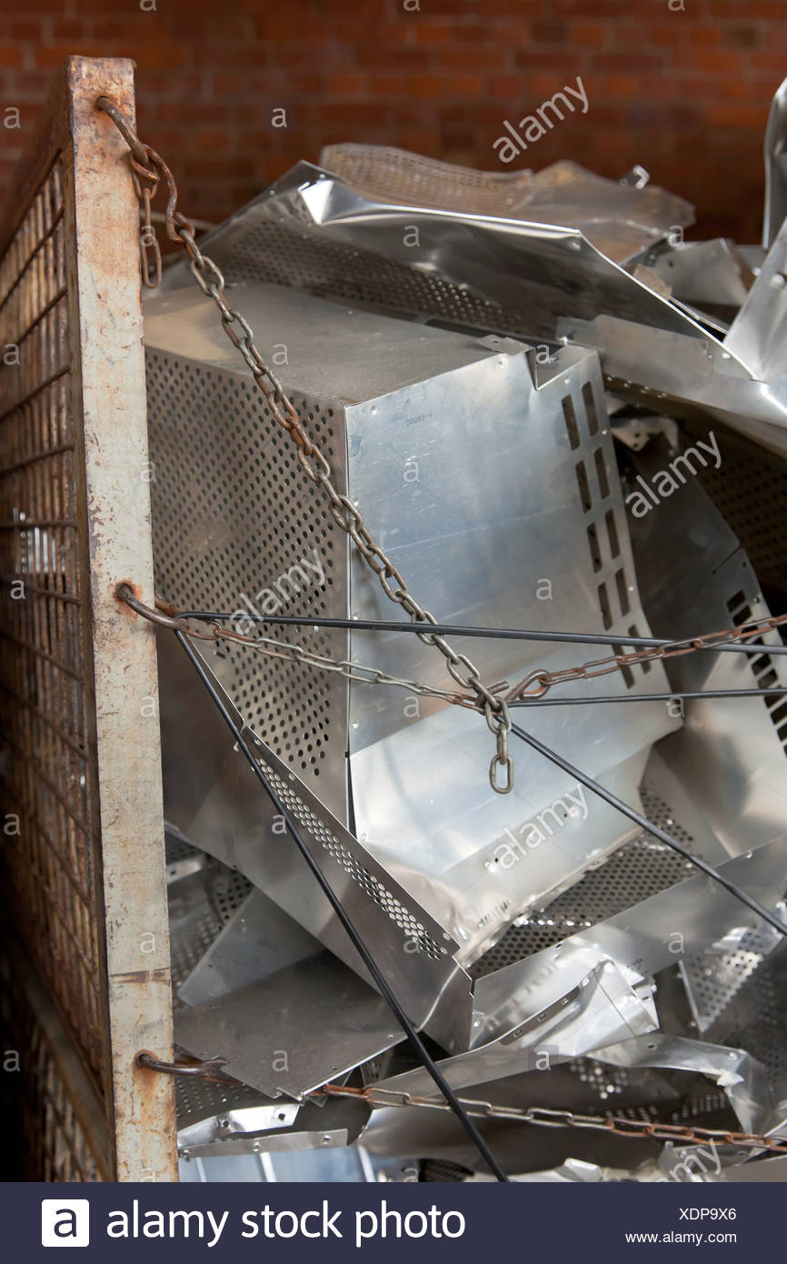 Berlin, Deutschland, Aluminium von Roehrenbildschirmen in BRAL Stockbild