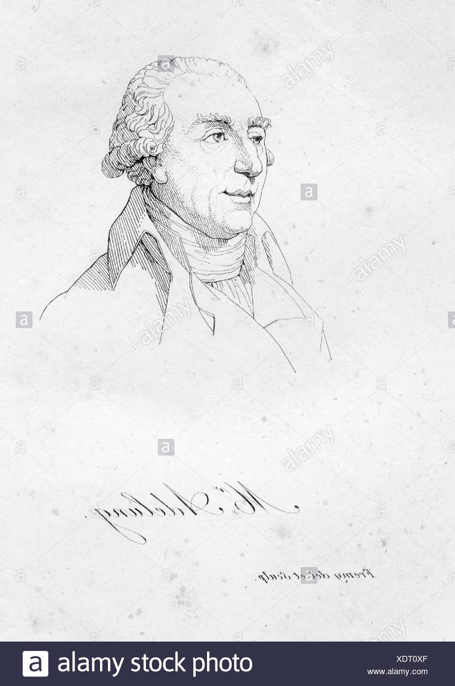 Adelung, Johann Christoph, 8.8.1732 - 10.9.1806, deutscher Wissenschaftler, Porträt, Kupferstich von Jacques Fremy (1782-1867), Artist's Urheberrecht nicht gelöscht werden Stockbild