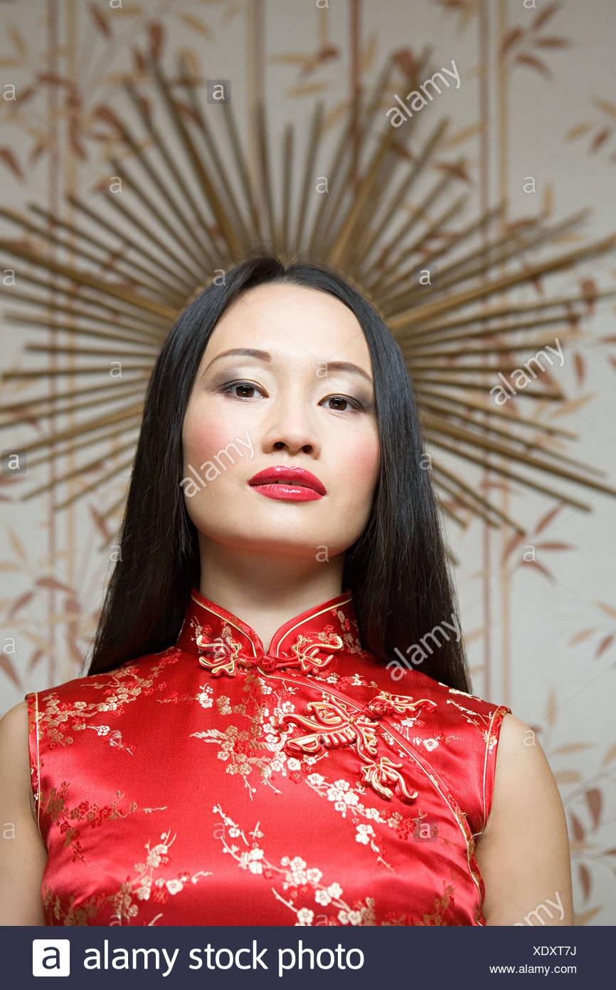 Porträt einer chinesischen Frau Stockfoto