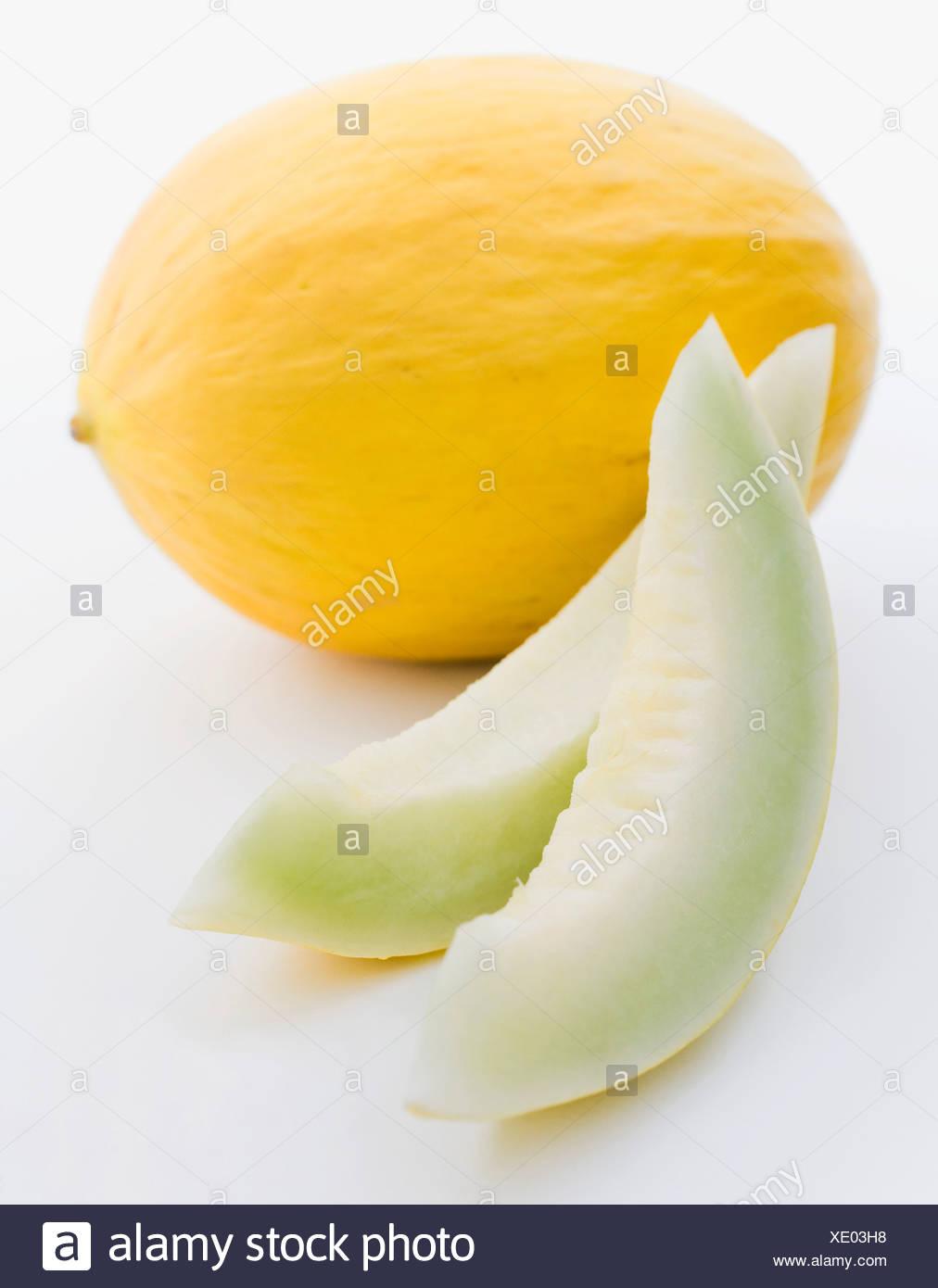 Kanarische Melone, close-up Stockbild