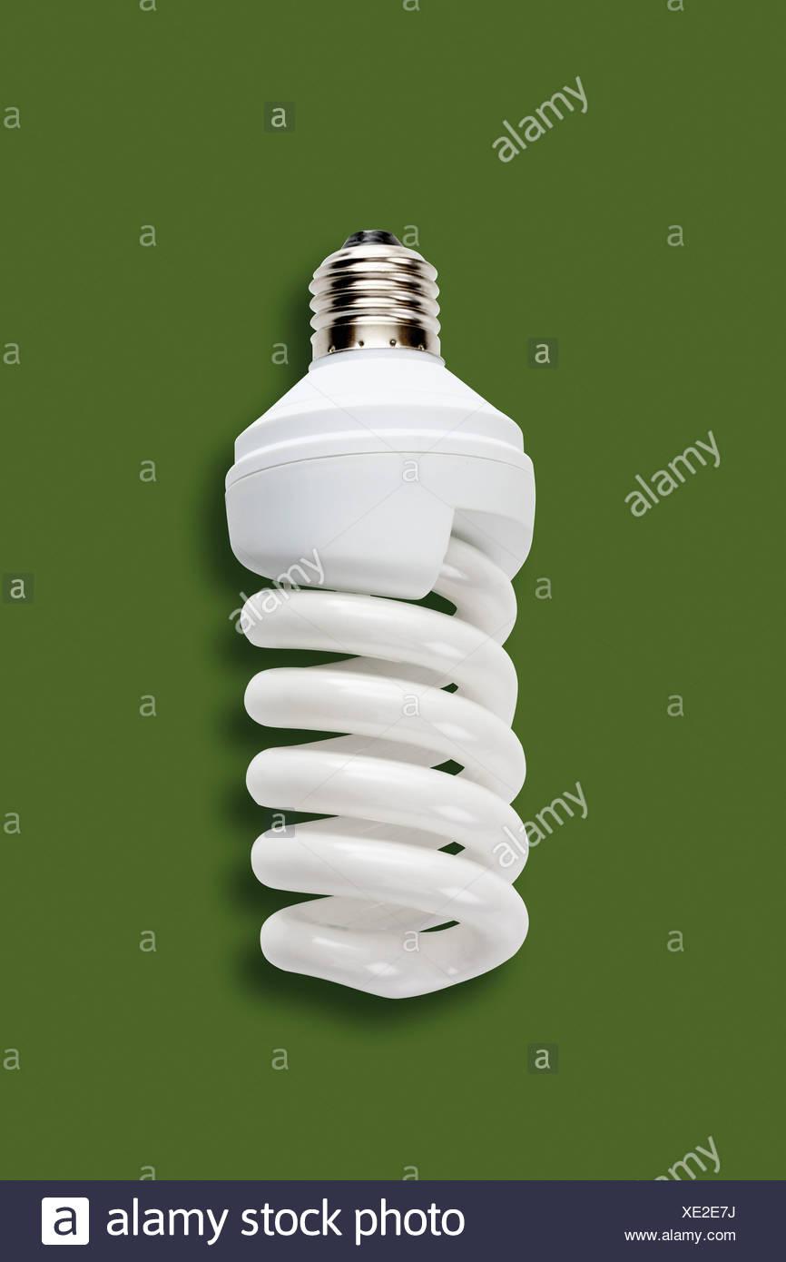Energiesparlampe, erhöhten Blick Stockbild