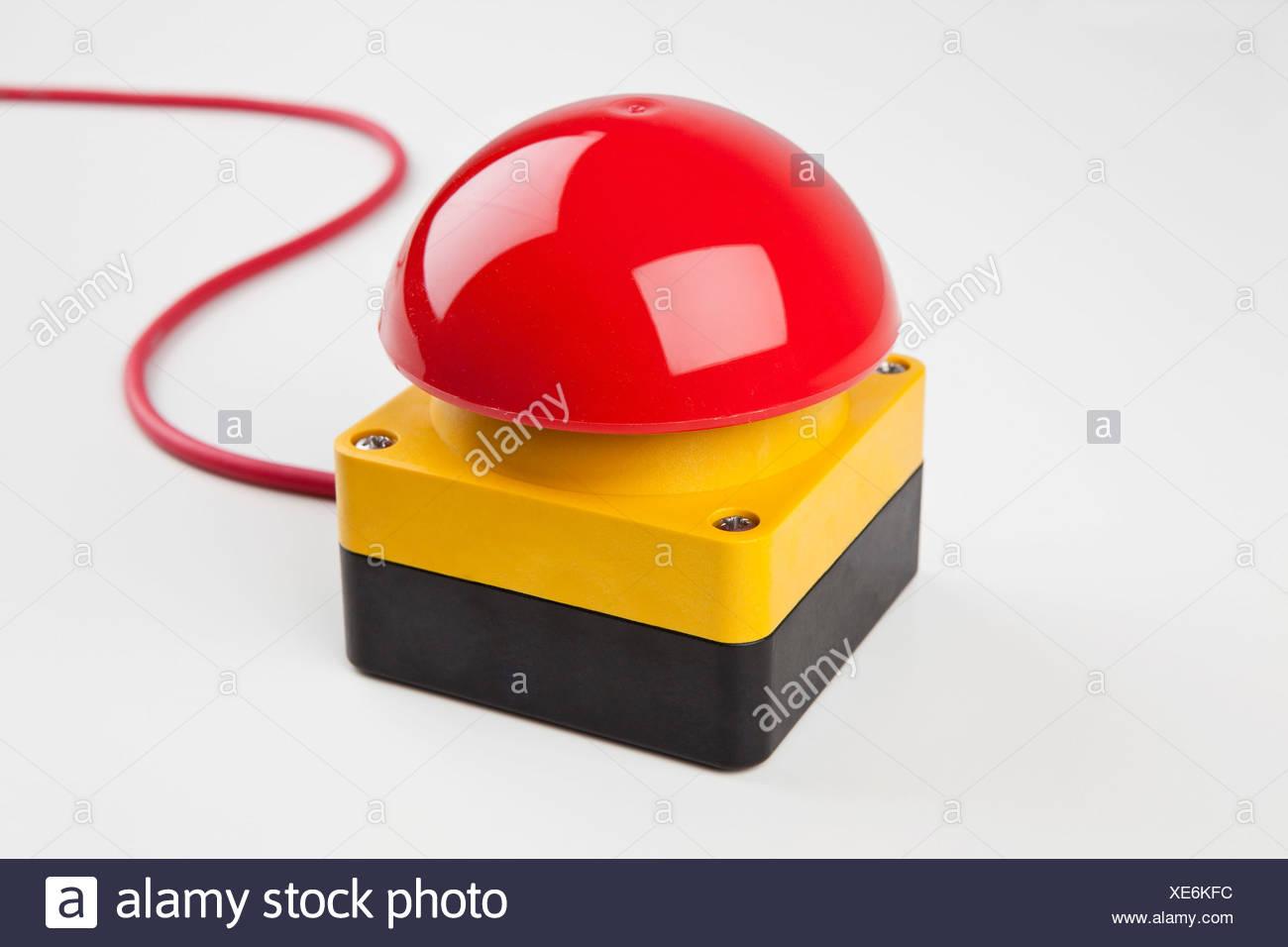 Eine große rote Klingel Stockbild