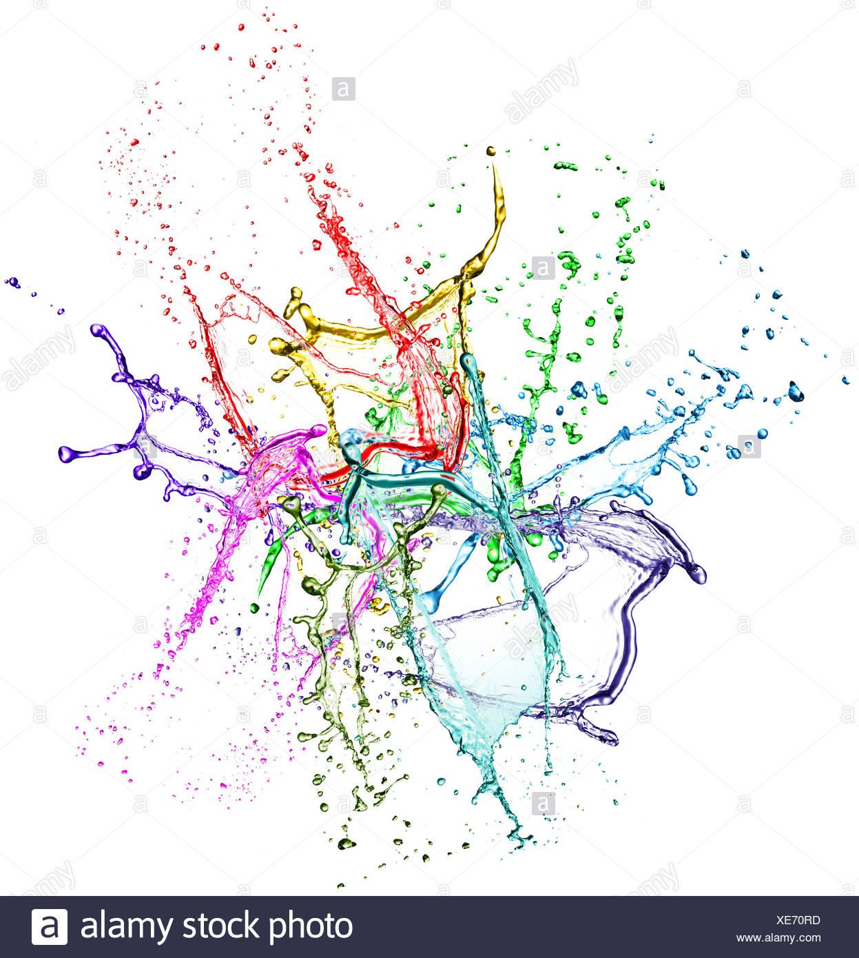 farbe spritzen stockfoto, bild: 284125393 - alamy