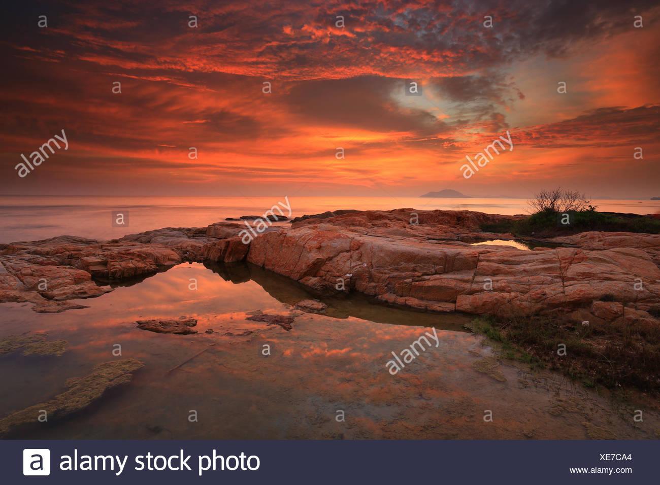 Indonesien, bunte Singkawang Stockfoto