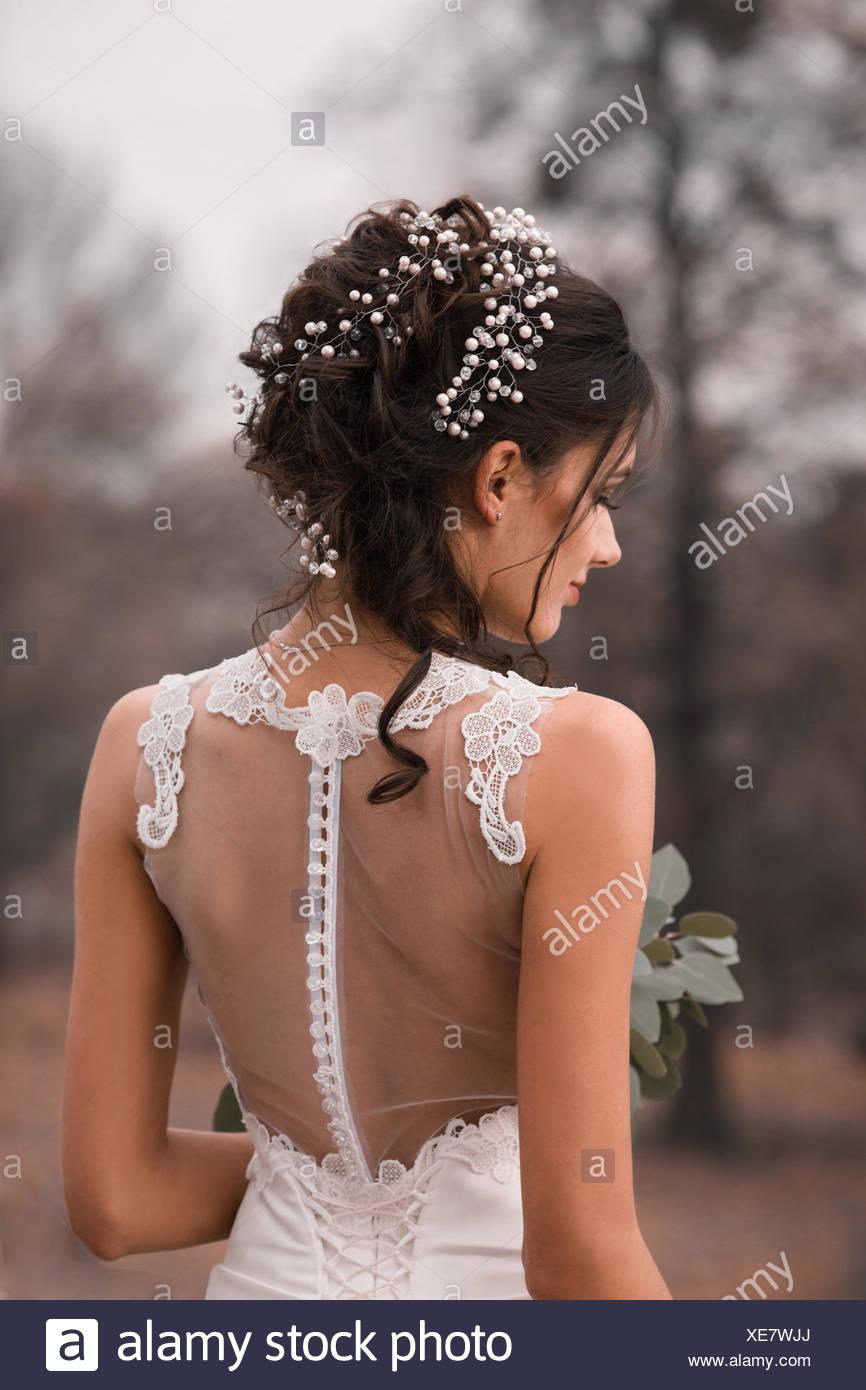 Schone Braut Hochzeit Frisur Und Make Up Wunderbare Hubsche Braut