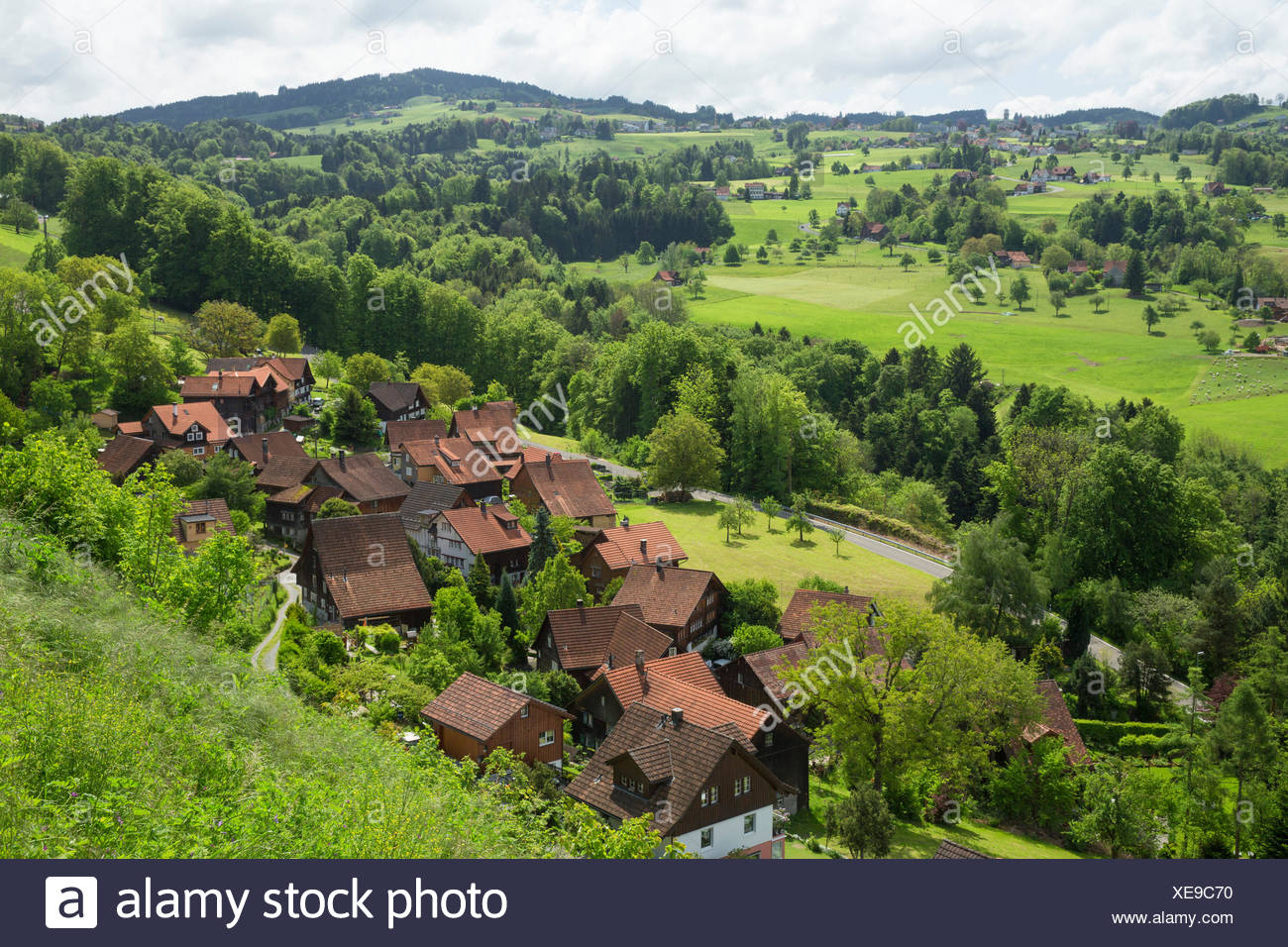 Wienacht, Tobel, Lutzenberg, Kanton Appenzell Ausserrhoden, Schweiz, Europa, Stockbild