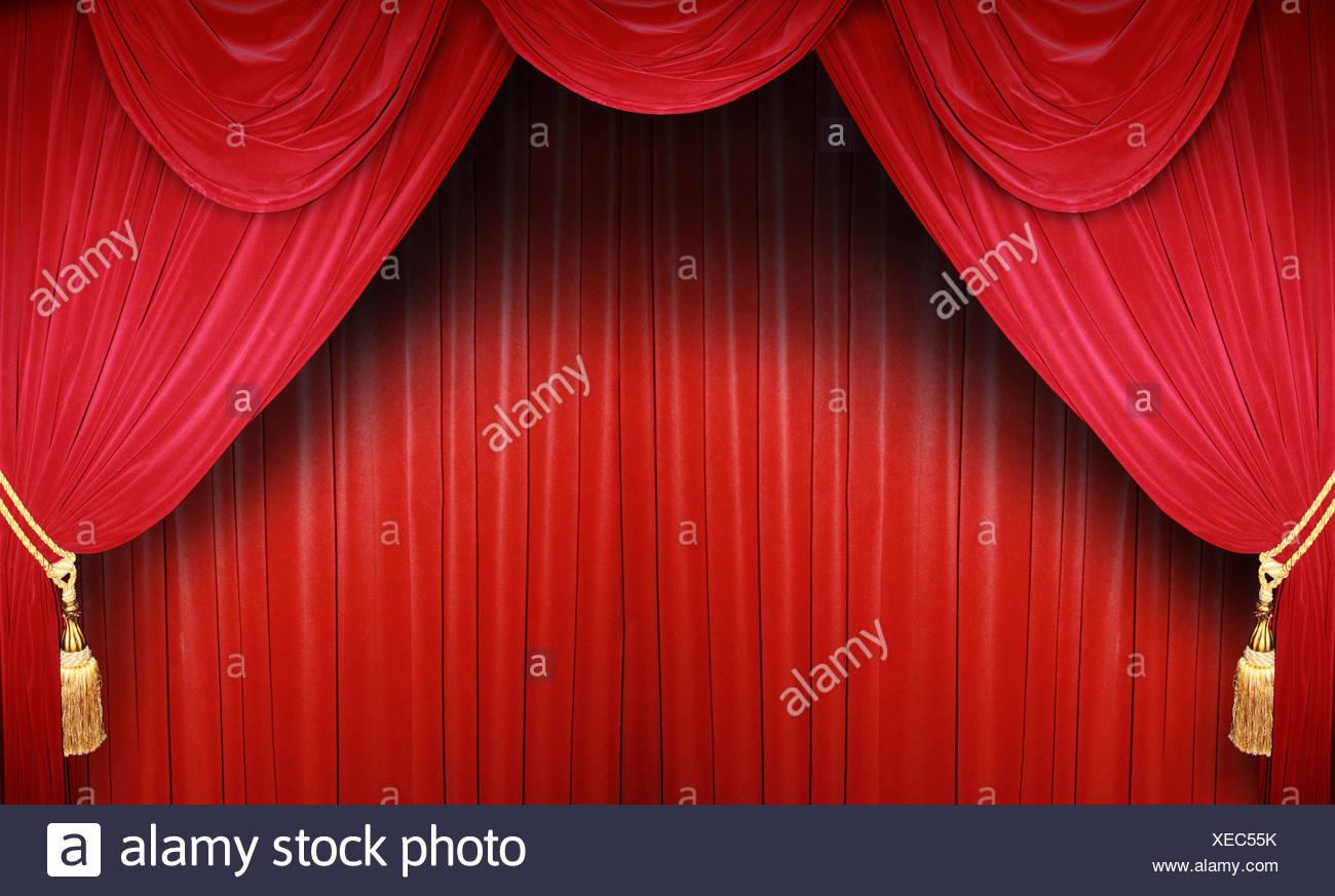 Rot Bühne Vorhang Samtvorhang Stockfoto Bild 284238575 Alamy