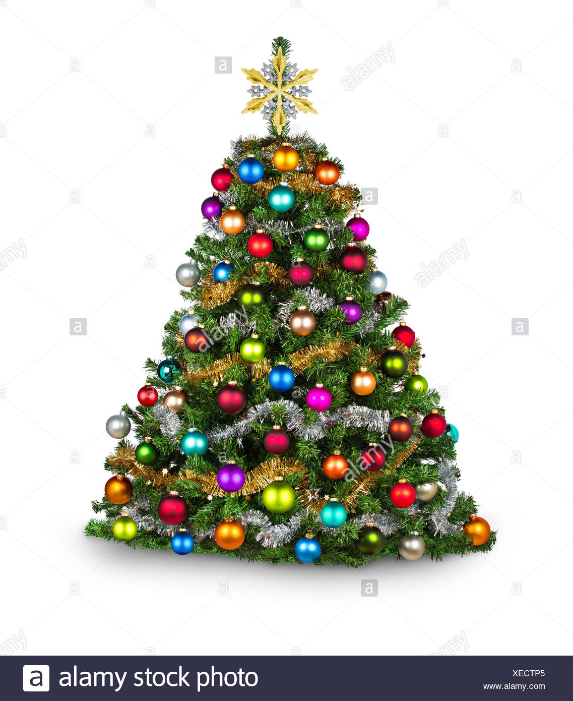 bunt dekorierter weihnachtsbaum stockfoto bild 284253933 alamy. Black Bedroom Furniture Sets. Home Design Ideas