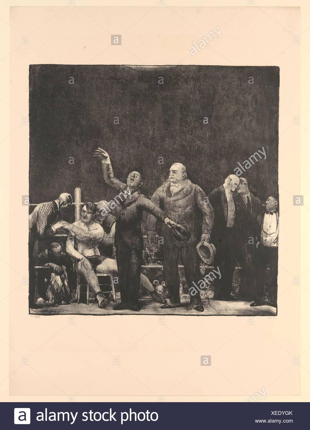 Die Einführung von John L. Sullivan. Artist: George Bellows (Amerikanische, Columbus, Ohio 1882-1925 New York); Herausgeber: von George Faltenbalg (American, veröffentlicht. Stockbild