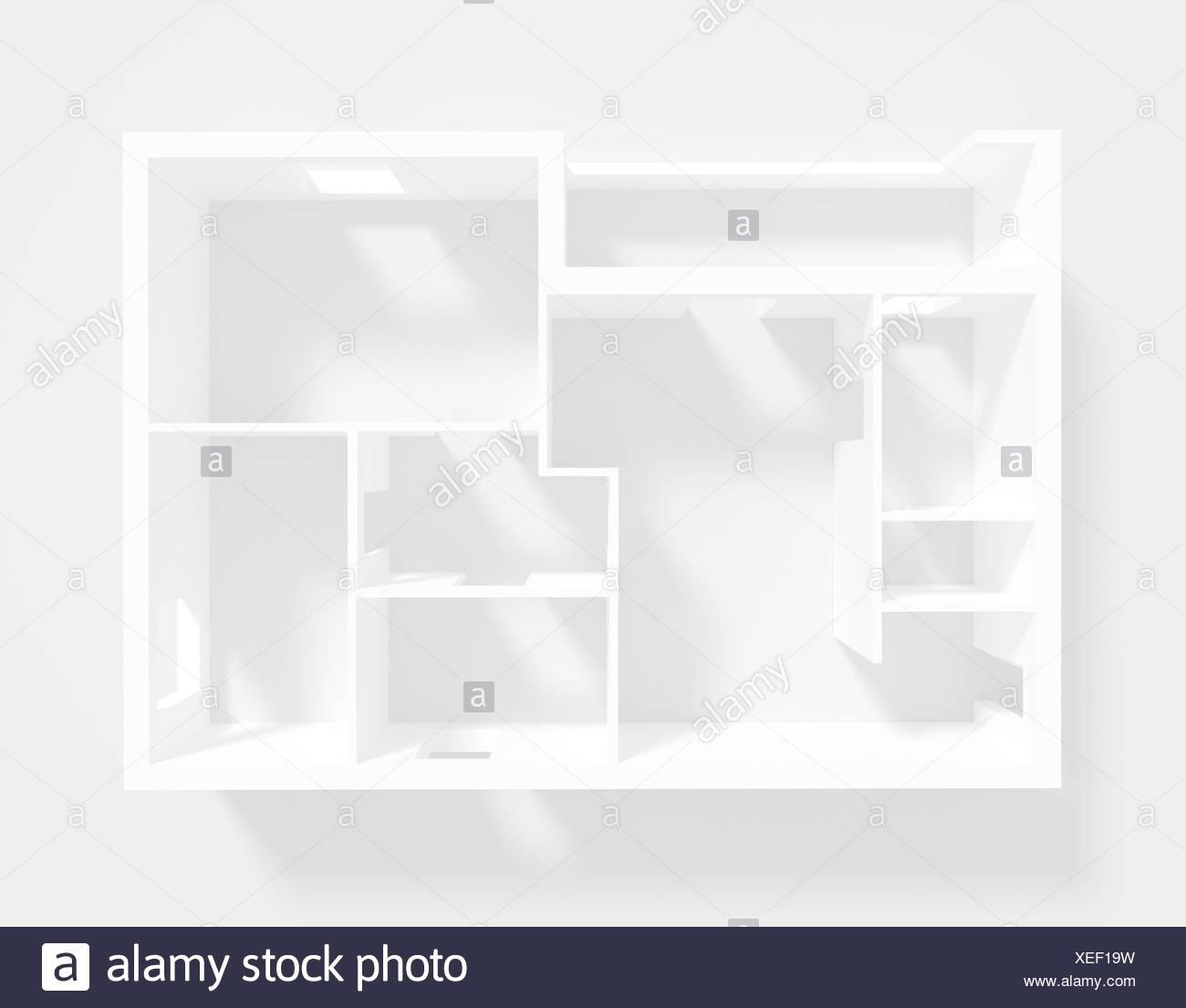 Das Papiermodell des Apartment Stockbild