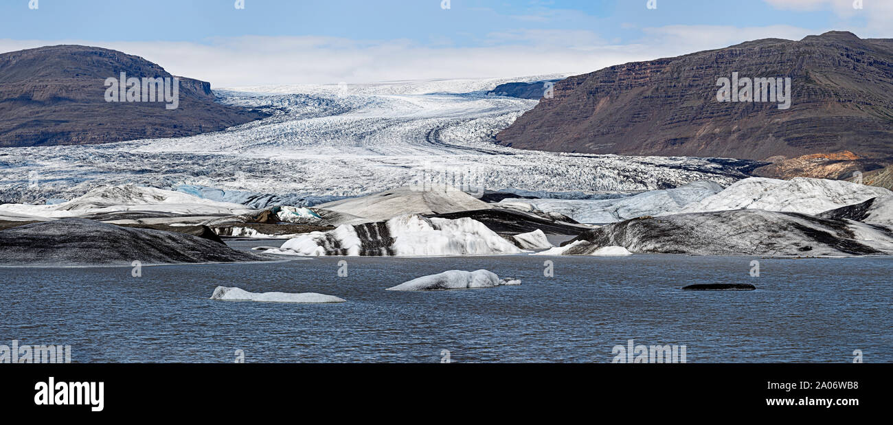 Hoffellsjokull Panorama glaciar en Islandia Foto de stock