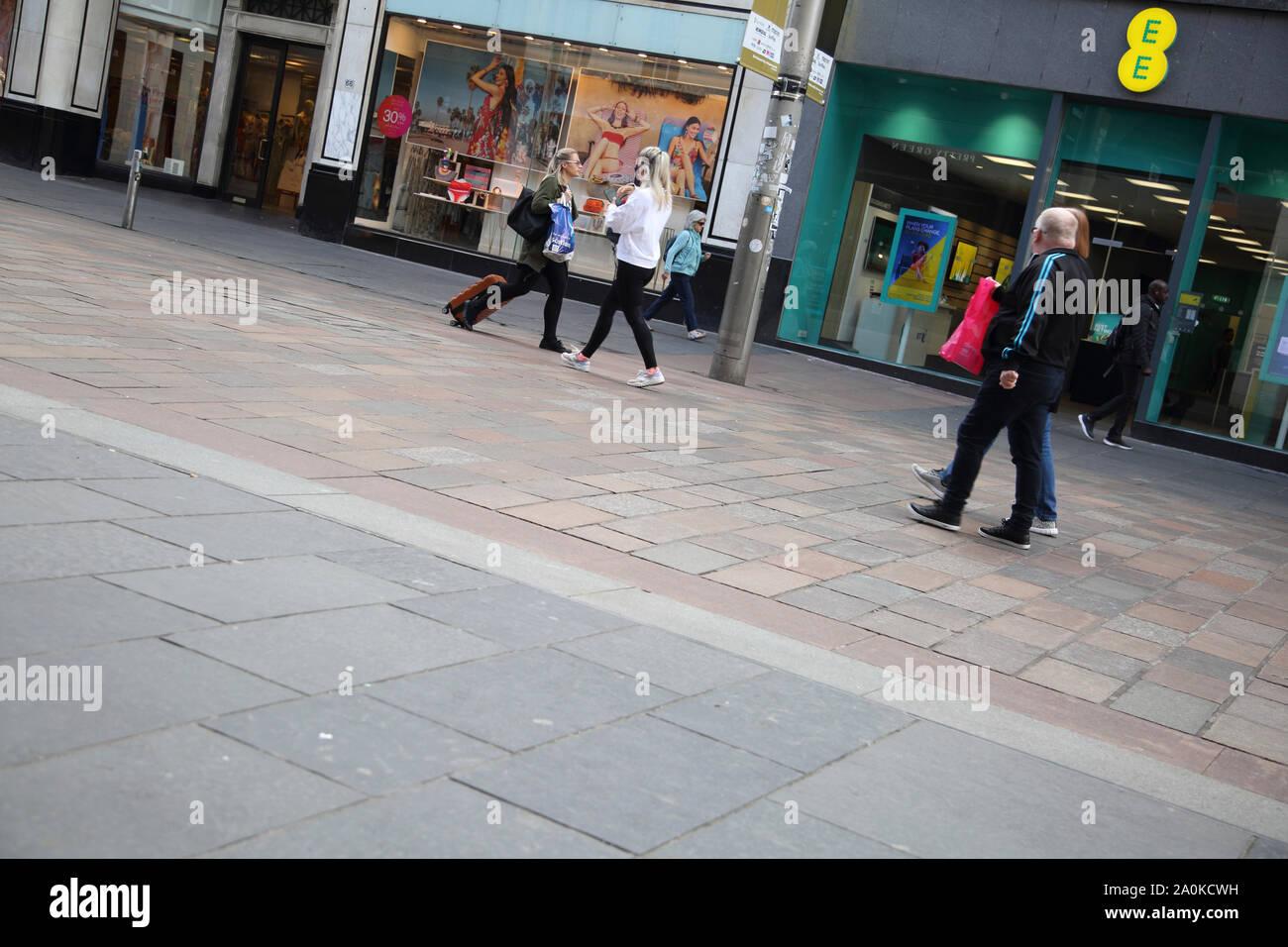 Glasgow Escocia Buchanan Street peatones Foto de stock