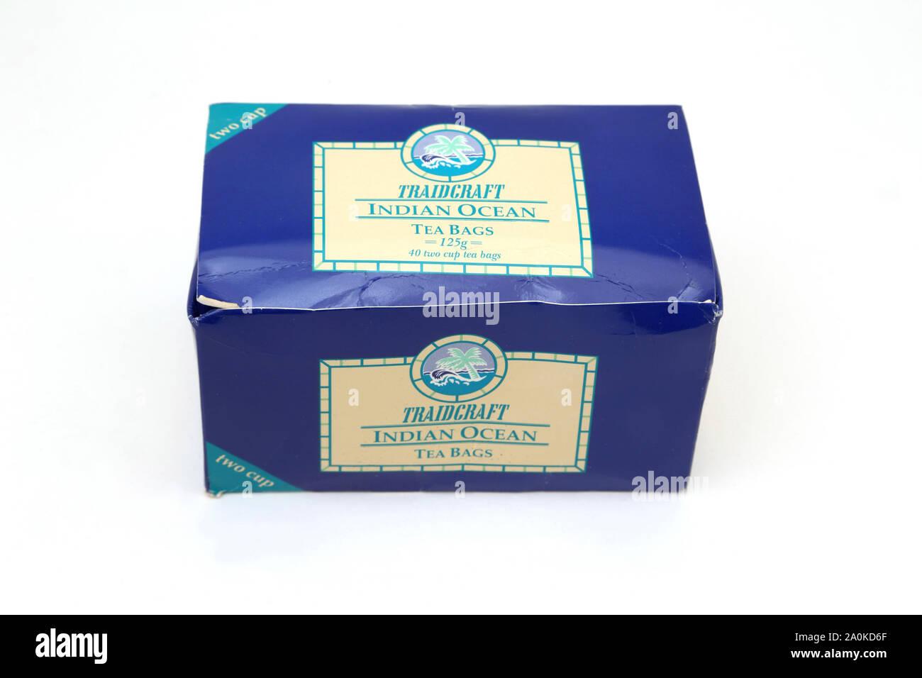 Caja de Traidcraft Océano Índico bolsas de té Foto de stock