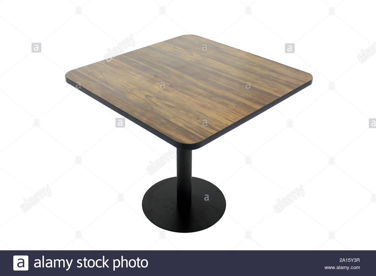 Mesa de comedor aislado sobre fondo blanco. Café clásico y ...