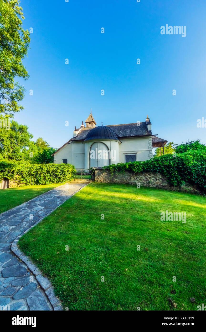 Austria, Carintia, Worthersee, capilla Maria-Loretto Foto de stock