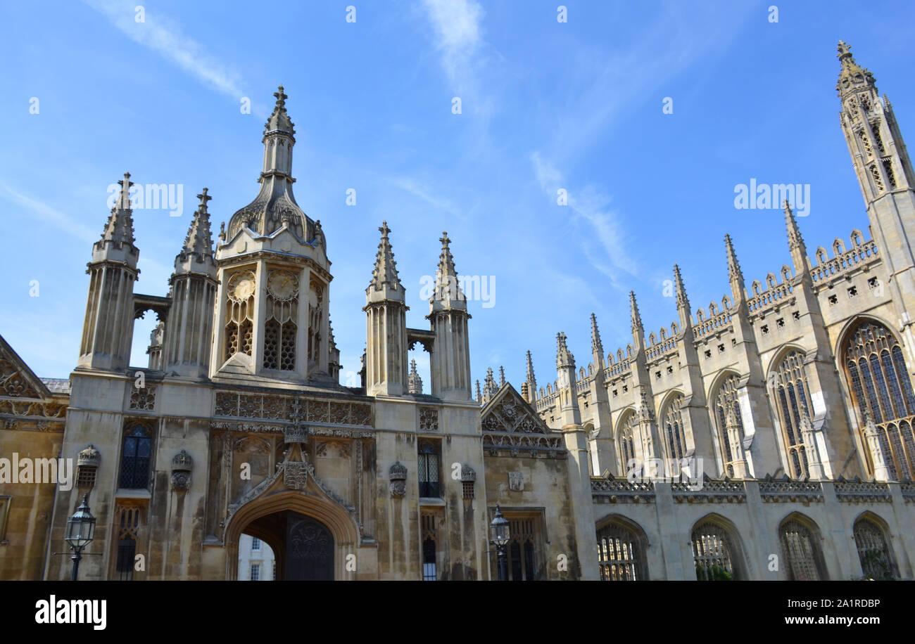 Los edificios en el King's College de Cambridge, Reino Unido Foto de stock