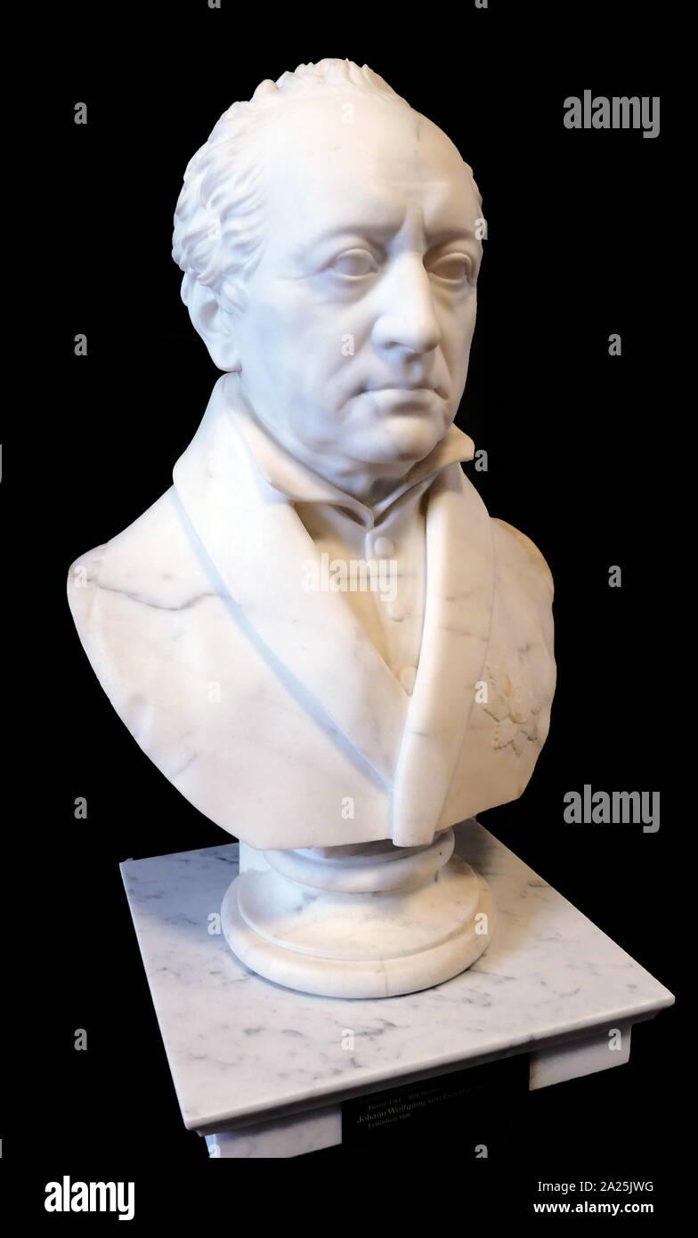 Busto de Johann von Goethe (1749 - 1832), escritor alemán y más. Esculpida en 1823 por Johann Gottfried Schadow (1764 - 1850); alemán escultor prusiano. Foto de stock
