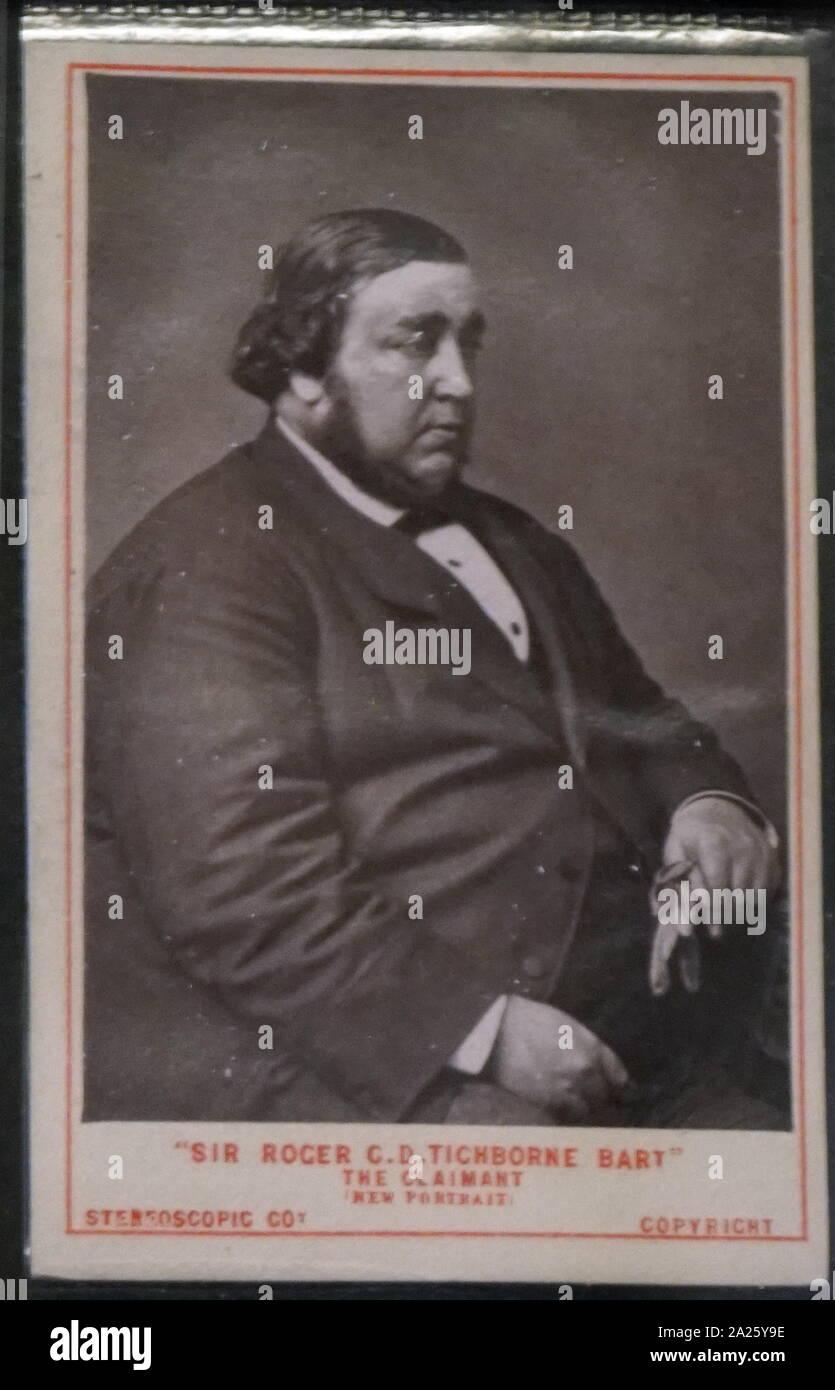 Retrato fotográfico de Roger Charles Tichborne Foto de stock
