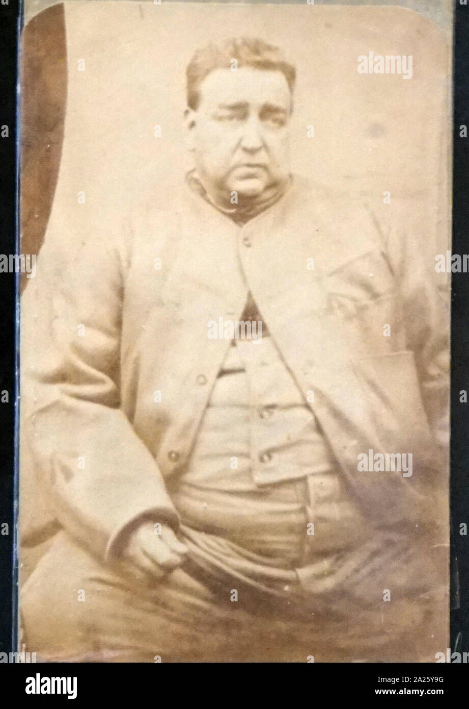 Retrato fotográfico de Roger Charles Tichborne (o Arthur Orton) Foto de stock