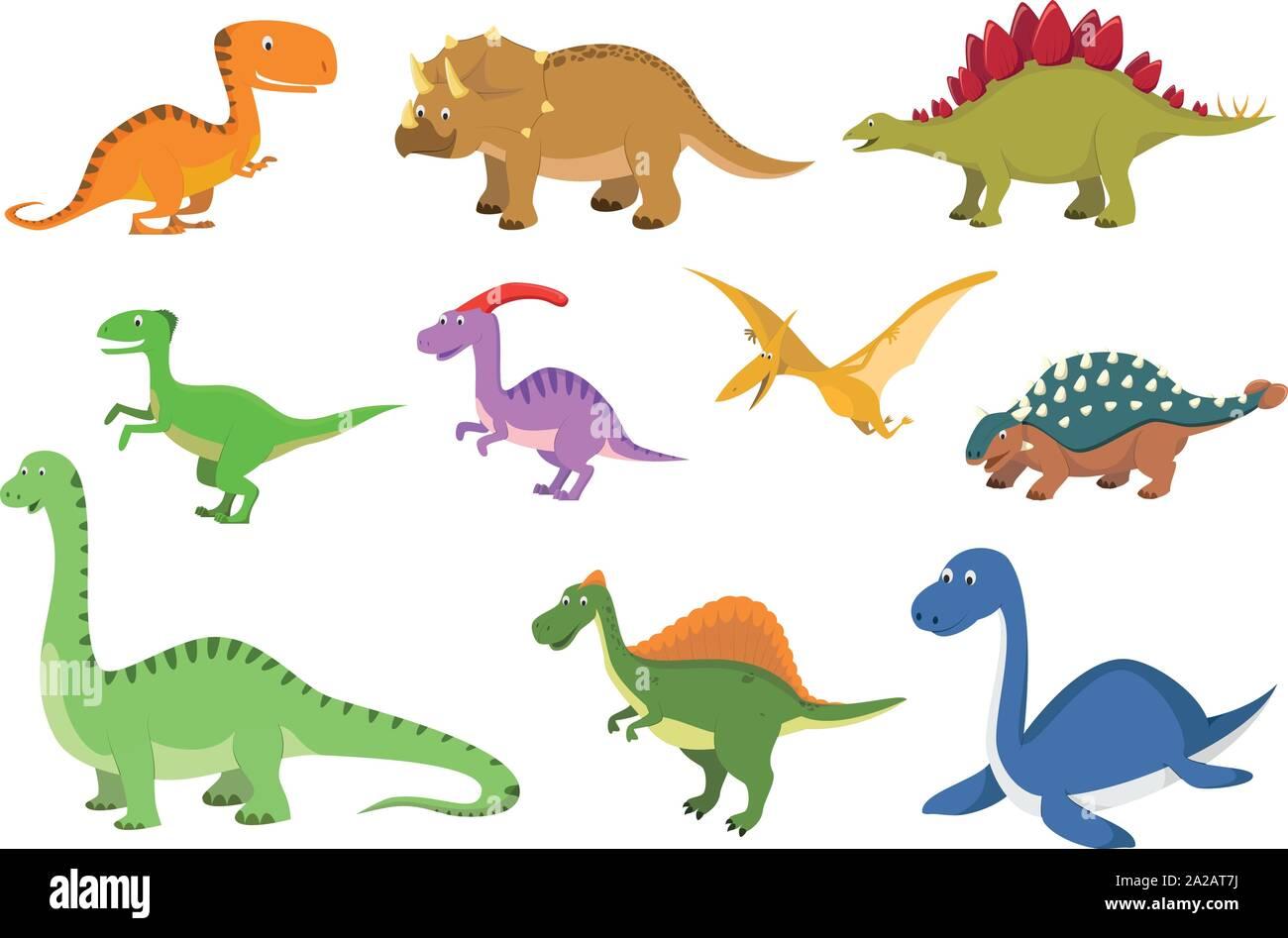 Conjunto De 10 Lindo Estilo De Dibujos Animados Dinosaurios En Ilustracion Vectorial Imagen Vector De Stock Alamy Para bajarte las imágenes animadas de dinosaurios, solo tienes que pinchar sobre la imagen y gifs, animaciones de la categoría dinosaurios. https www alamy es conjunto de 10 lindo estilo de dibujos animados dinosaurios en ilustracion vectorial image328464854 html