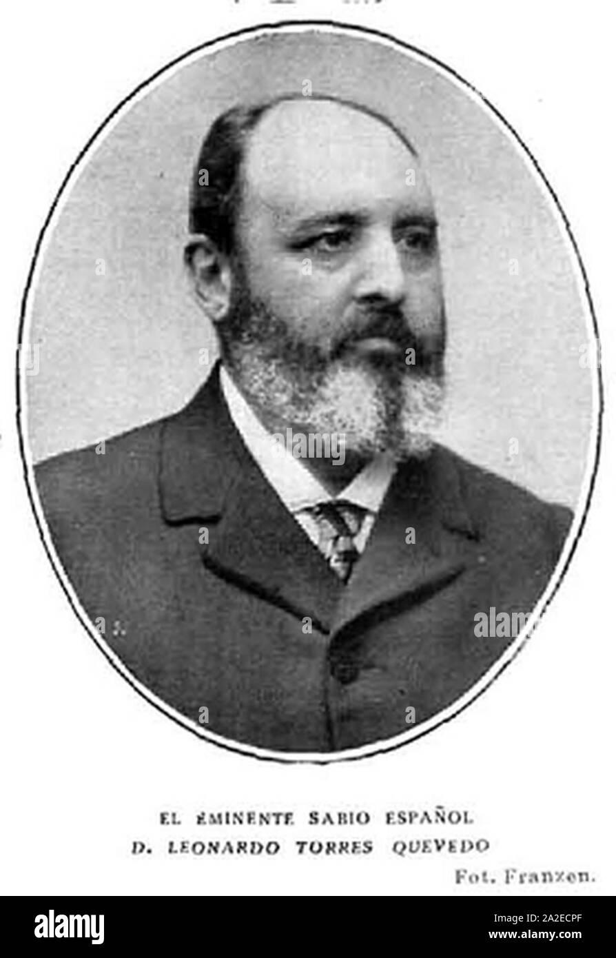El eminente sabio español Leonardo Torres Quevedo de Franzen. Foto de stock