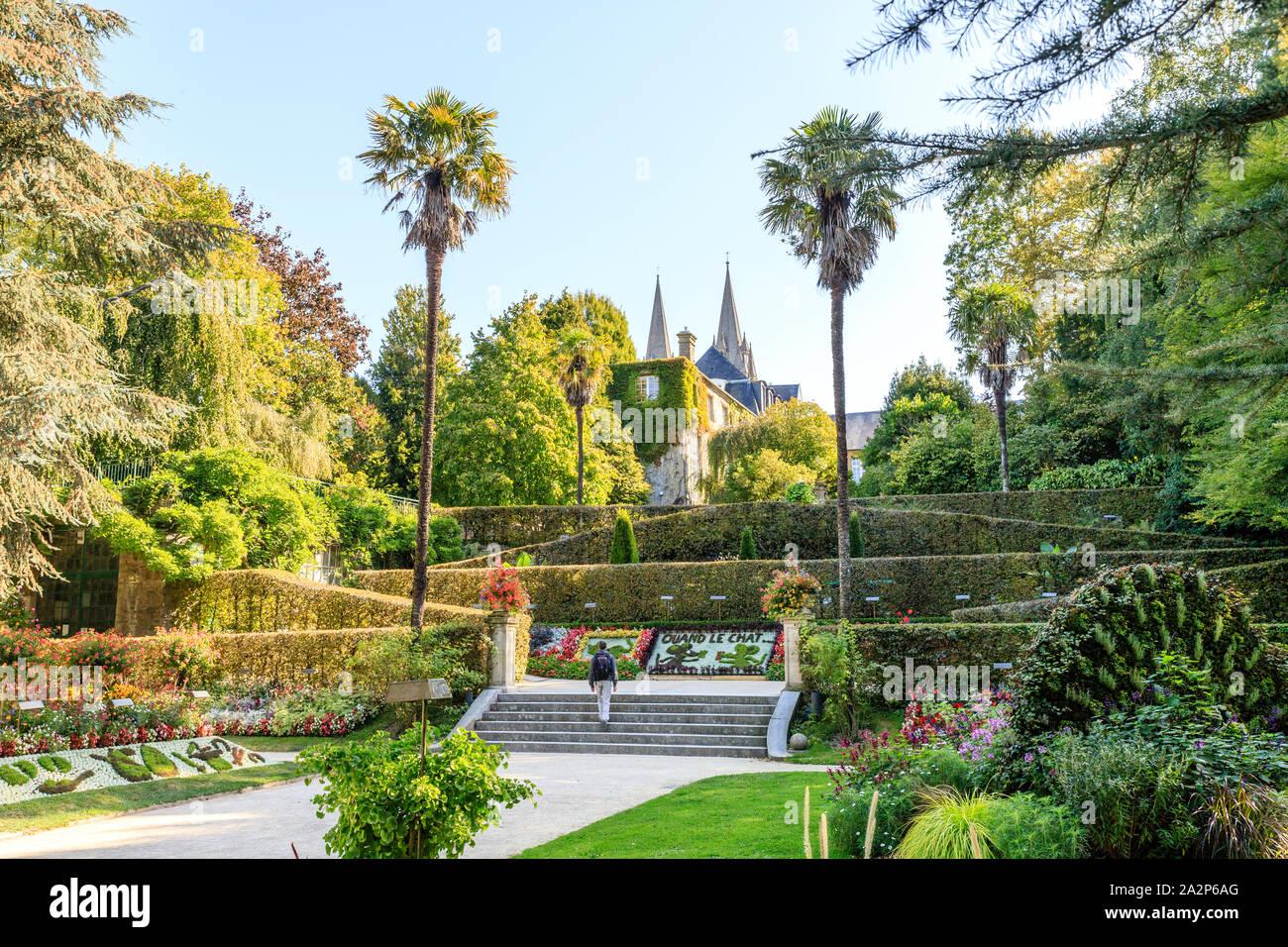 Francia, Manche, Cotentin, Coutances, el Jardin des plantes // Francia, Manche (50), de Cotentin, Coutances, Le Jardin des plantes Foto de stock