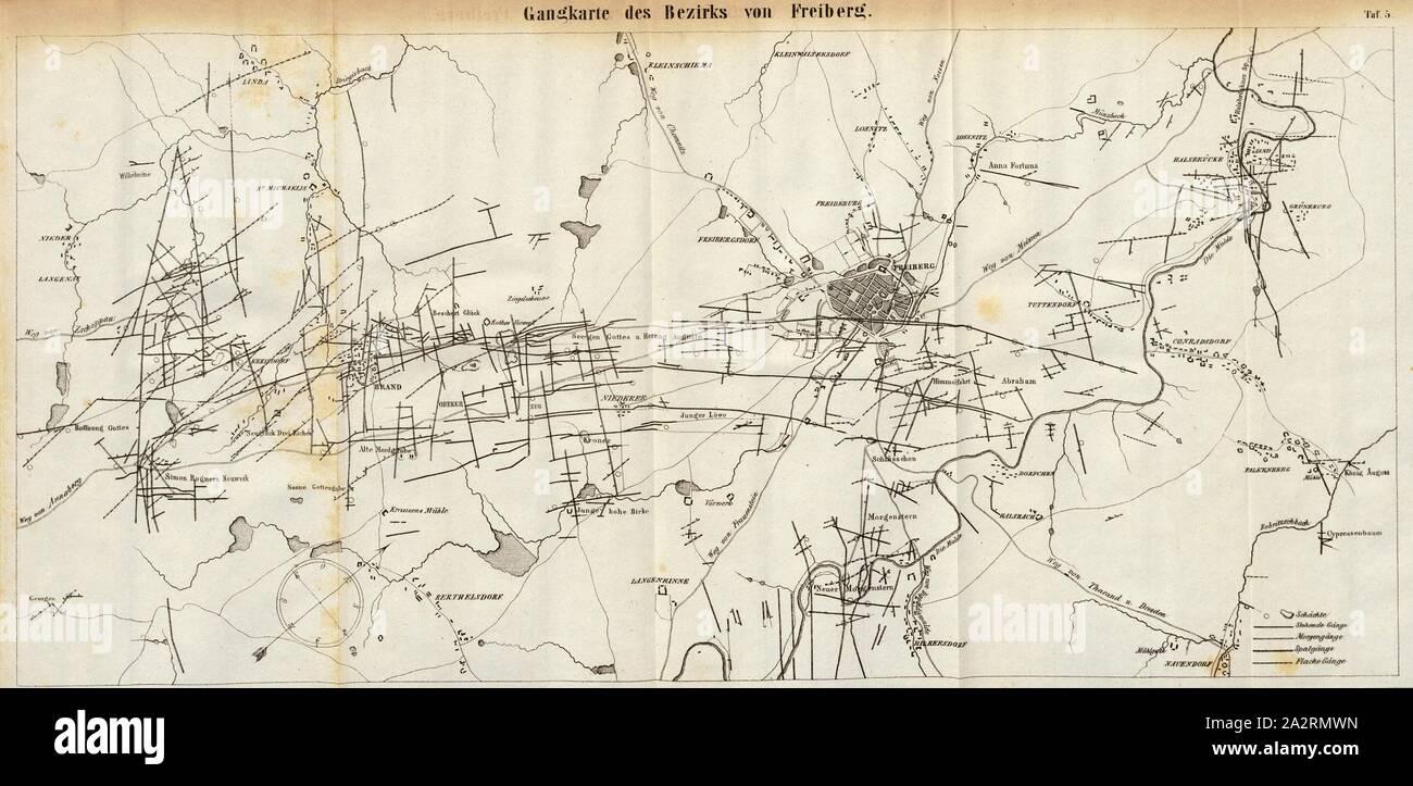 Engranajes Mapa Del Distrito De Freiberg Mapa De Los Pasajes De
