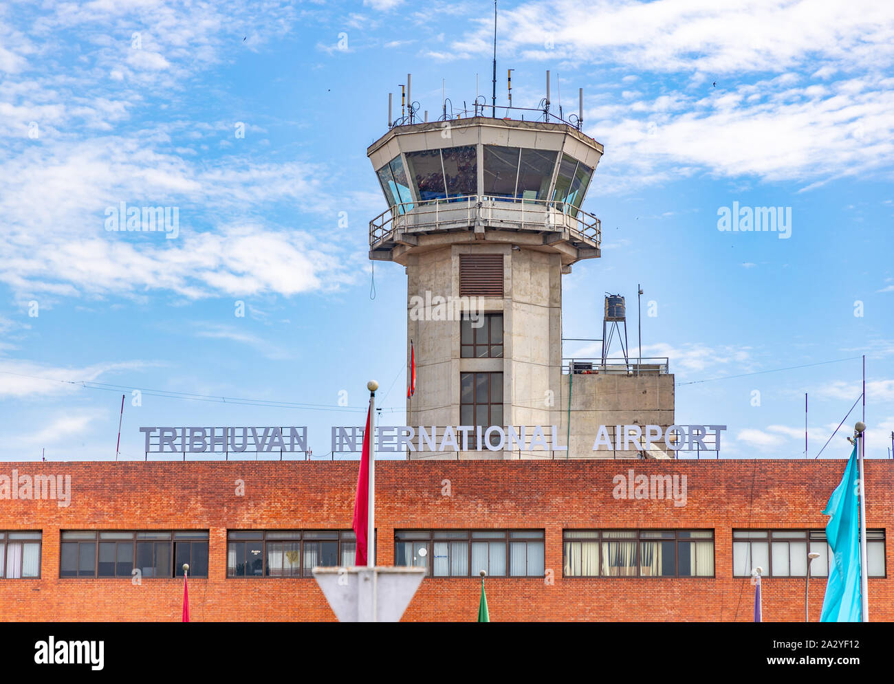 El Aeropuerto Internacional de Tribhuvan en Katmandú, Nepal. Foto de stock