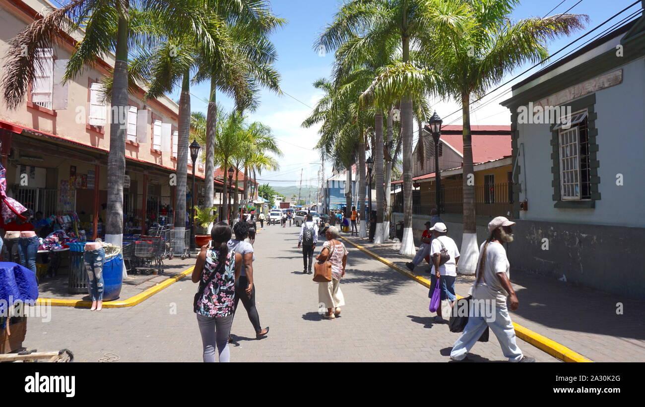 Ciudad de Falmouth, Jamaica Foto de stock