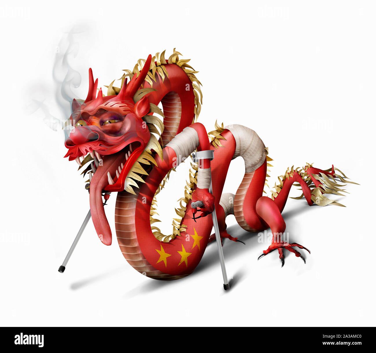 Insalubres de dragón chino Foto de stock