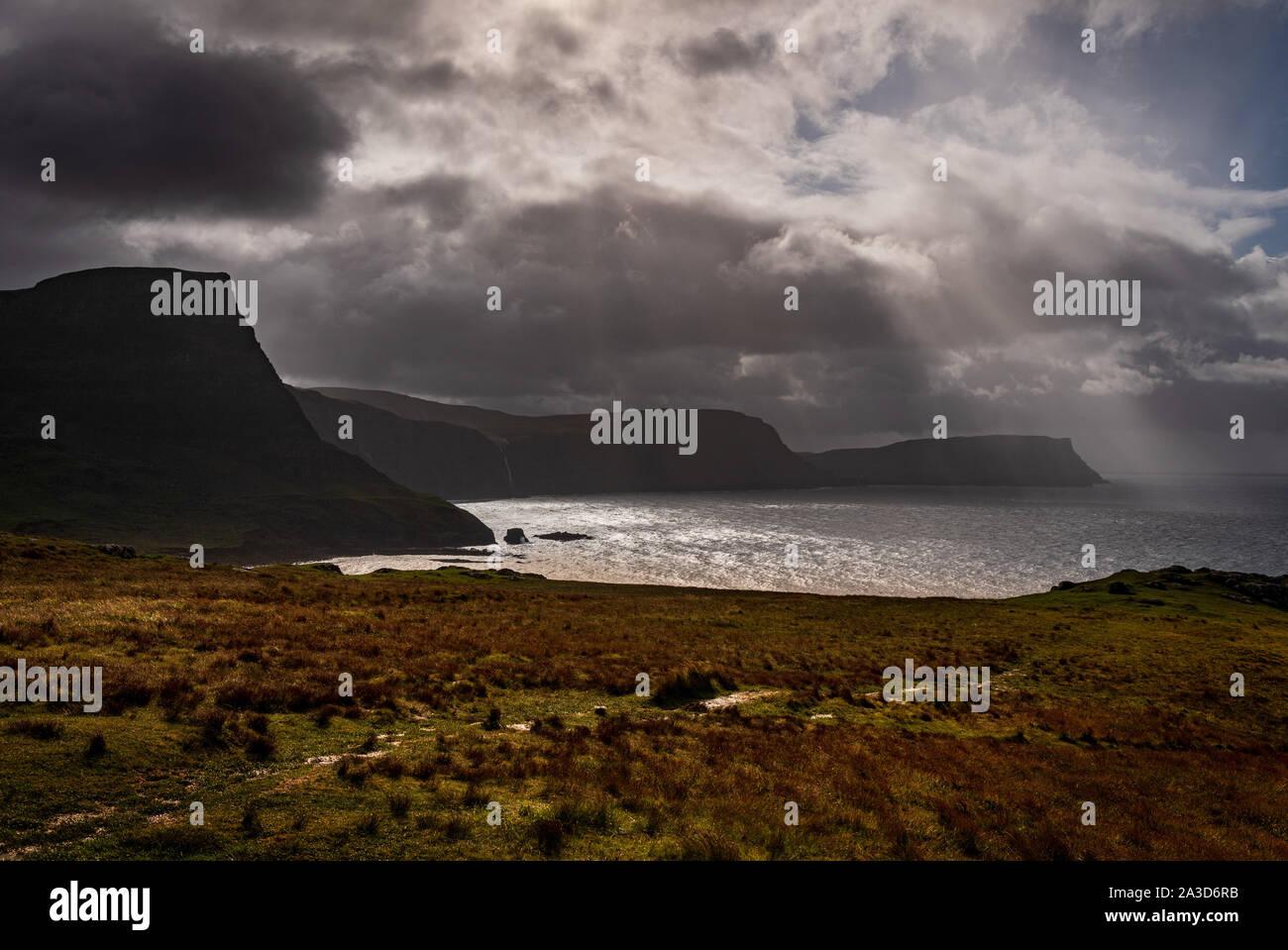 Moonen Bay, Isla de Skye Foto de stock