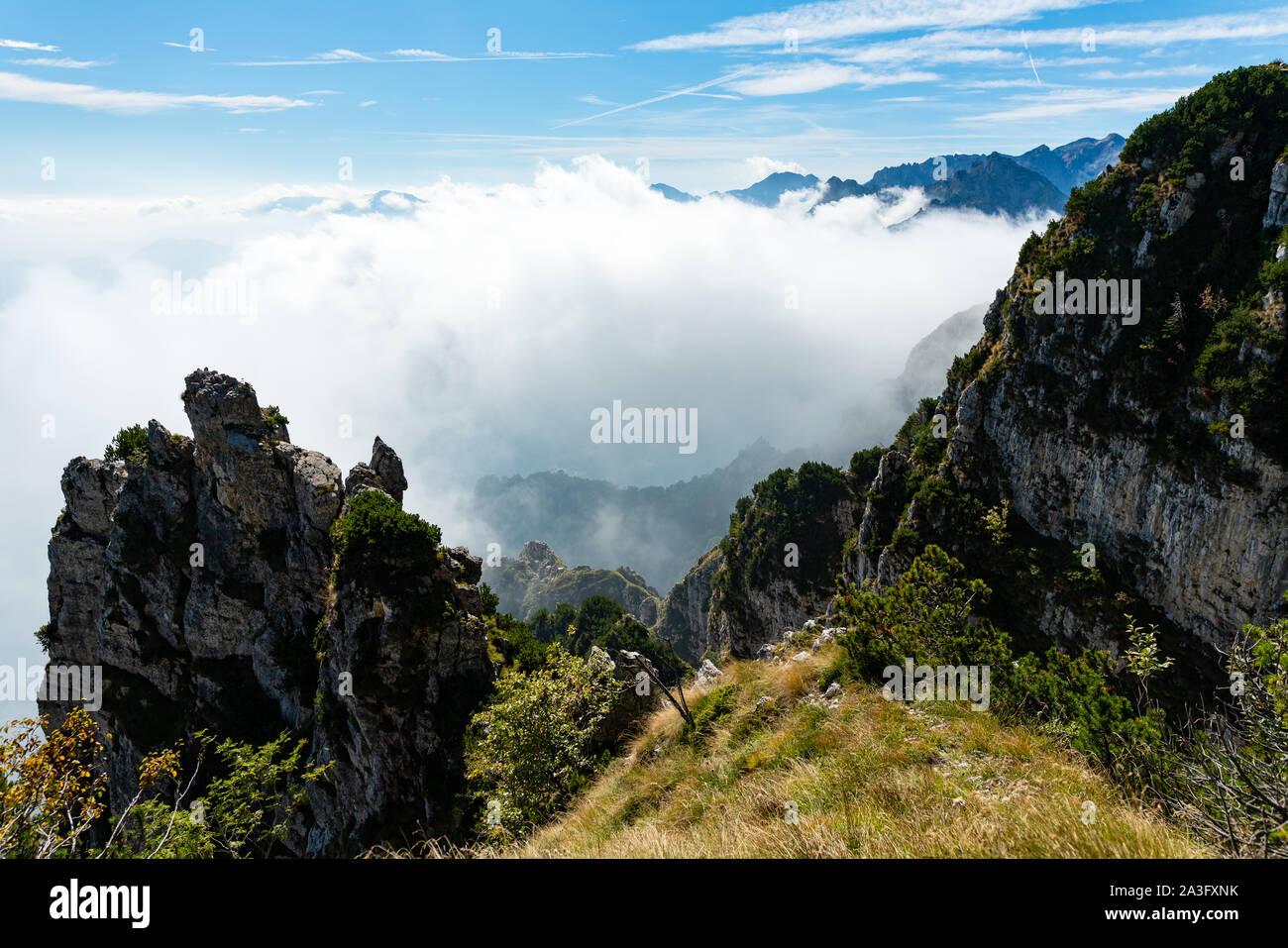 Monte Pasubio - Strada Delle cinquantadue 52 gallerie Foto de stock