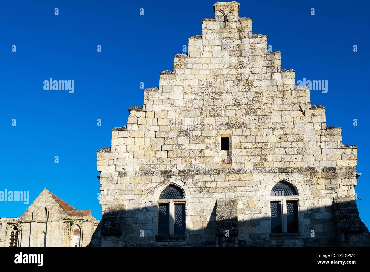 Francia, Oise, abadía de Saint Martin aux Bois, edificio secundario Foto de stock