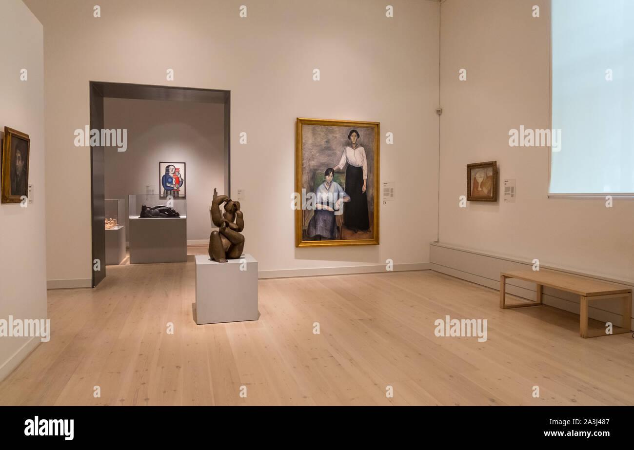 Copenhague, Dinamarca - Mayo 04, 2019: el interior de la Galería Nacional de Dinamarca, Statens Museum for Kunst, Copenhague, Dinamarca Foto de stock