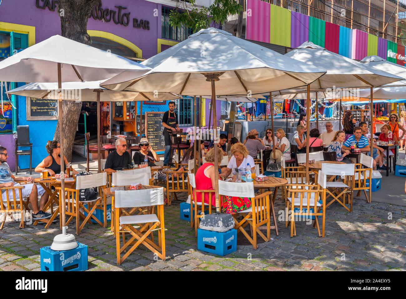 Café / Bar en Magallanes, El Caminito, la boca de distrito, Buenos Aires, Argentina Foto de stock