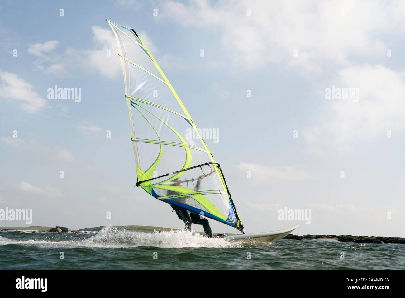 Windsurfista Foto de stock