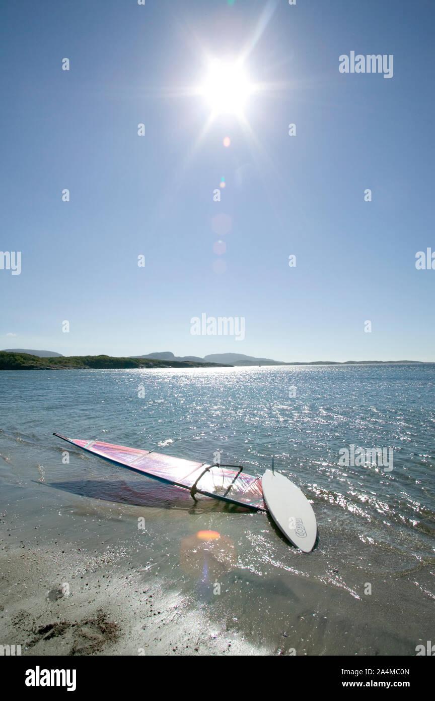 Surf a Stokkøya Foto de stock