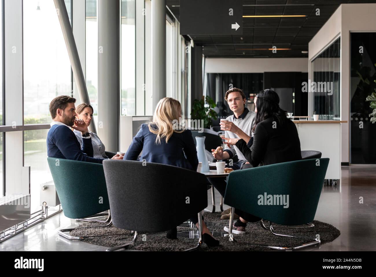 Reunión de negocios Foto de stock