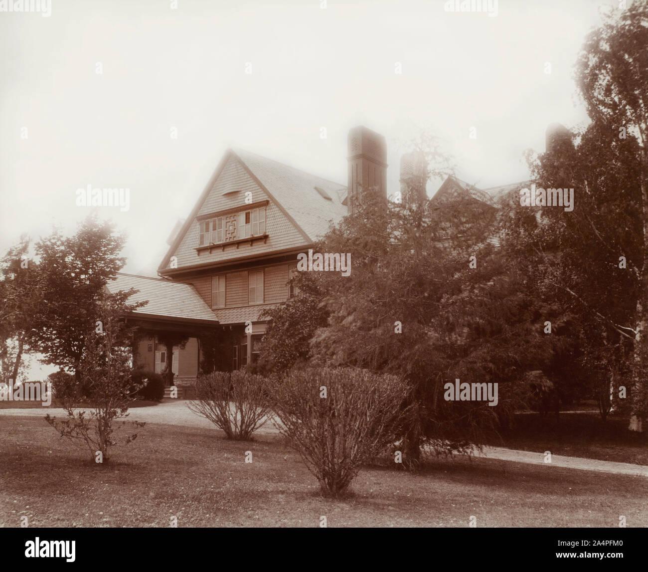 Theodore Roosevelt de la casa, el Sagamore Hill, Oyster Bay, Nueva York, Estados Unidos, Fotografía por Waldon Fawcett, mayo de 1903 Foto de stock