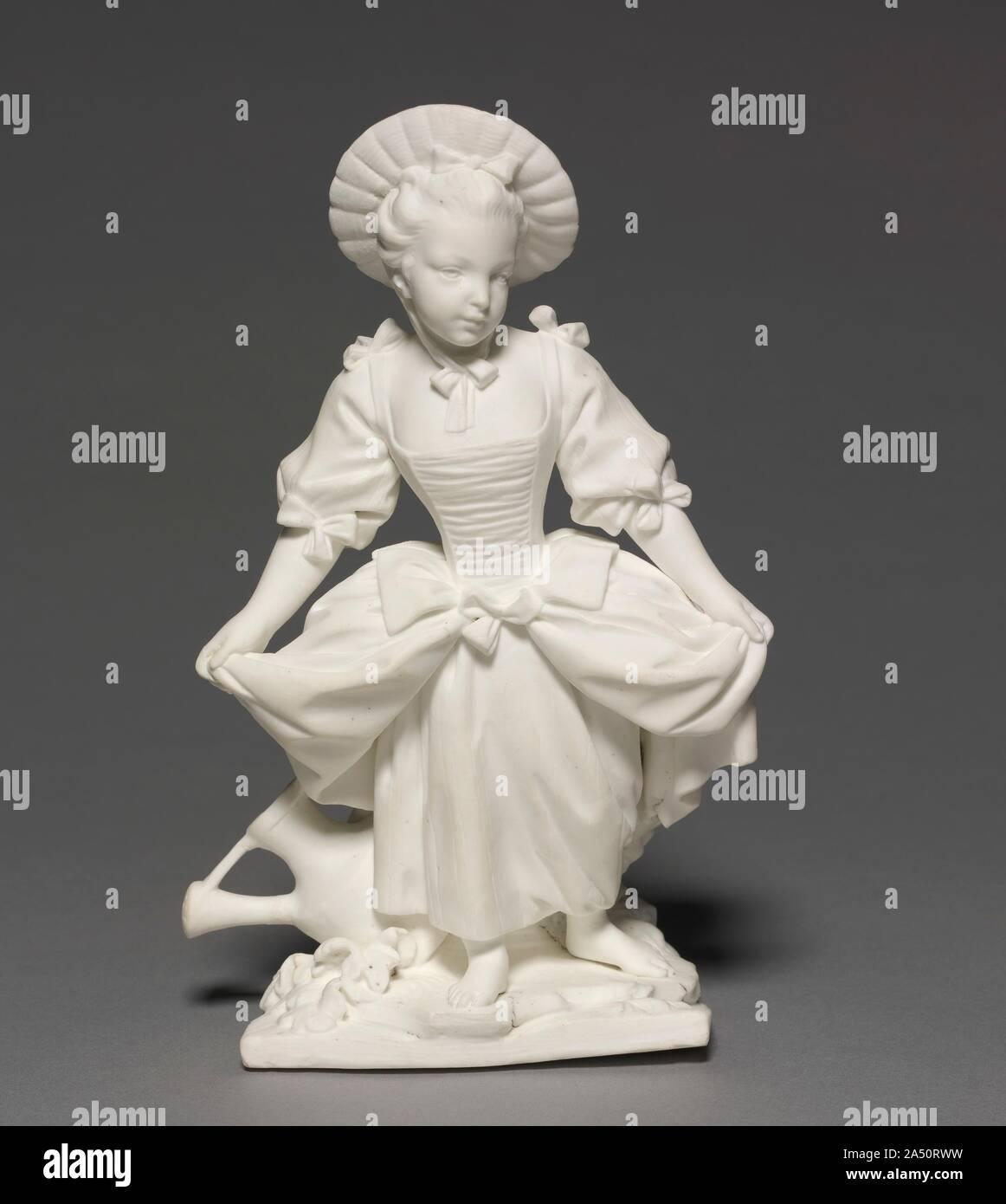 La figura de la Bailarina (La Danseuse), 1748-1752. Aunque unos pocos Vincennes figuras de porcelana esmaltada que existen, la Real Fábrica aprobada en fecha temprana la práctica de producir desprovistos de sus lunas, galletas de figuras que, debido a la pureza de su material, se asemejan a figuras de mármol. La moda de la galleta cifras introducido primero en Vincennes se extendió rápidamente a través de Europa. Foto de stock