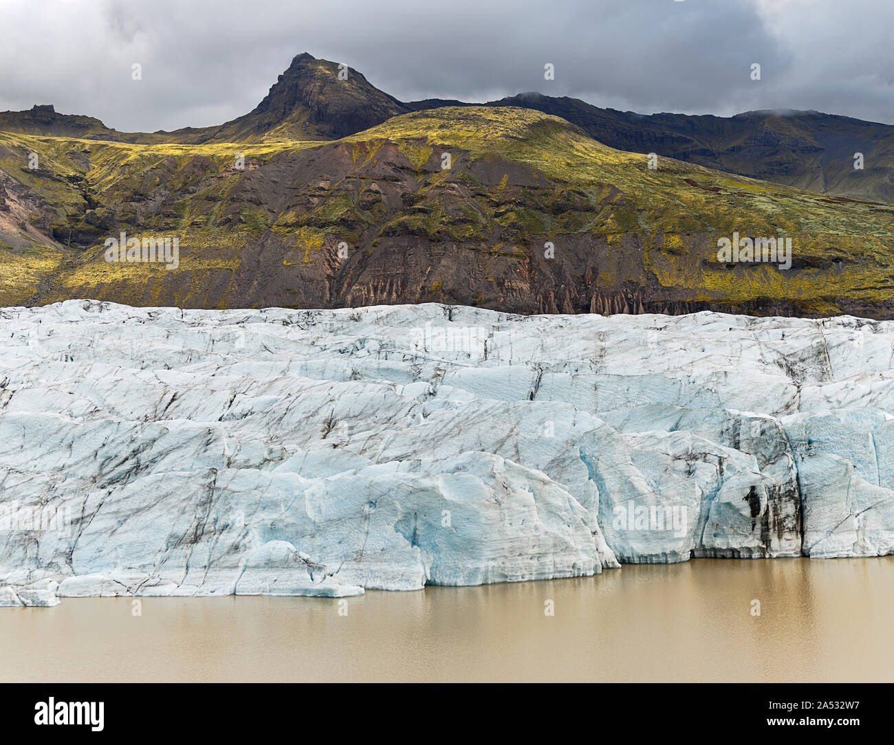 Svinafellsjokull glaciar en Islandia Foto de stock