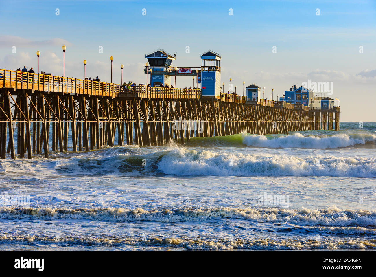 Oceanside Pier, el sur de California, Estados Unidos. Foto de stock