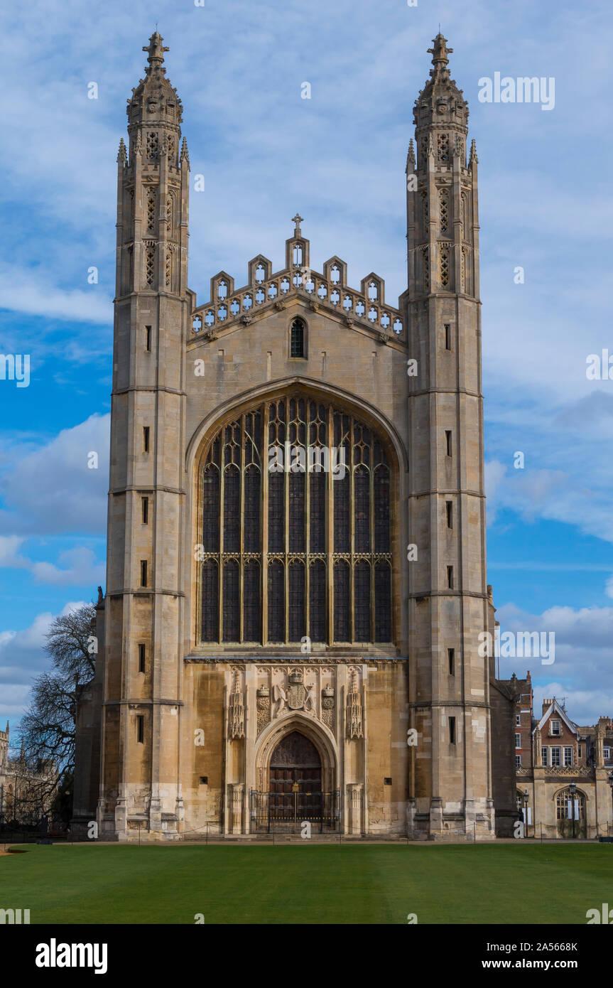 La fabulosa en el King's College de la Universidad de Cambridge. King's College y Clare College Foto de stock