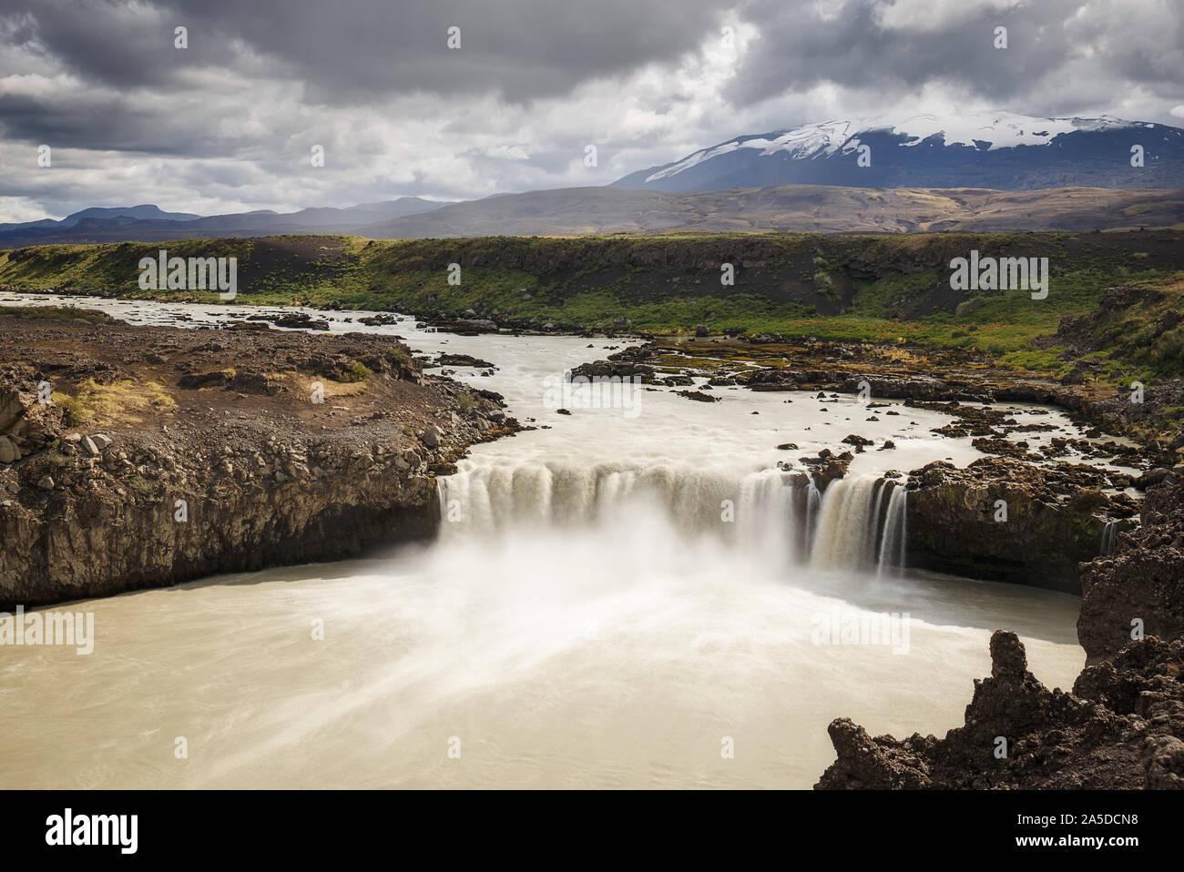 Thjofafoss cascada, una joya escondida en Islandia Foto de stock