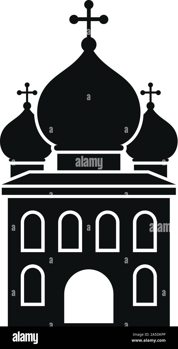 Icono de la iglesia ortodoxa. Simple ilustración de la iglesia ortodoxa icono vectoriales para diseño web aislado sobre fondo blanco. Ilustración del Vector
