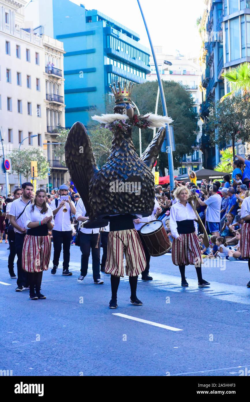 La Mercè festival. La Danza del Águila. Barcelona, Cataluña, España. Foto de stock