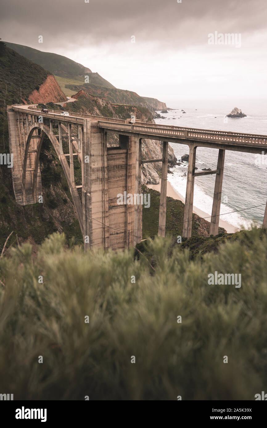 La carretera N 1 de California Foto de stock