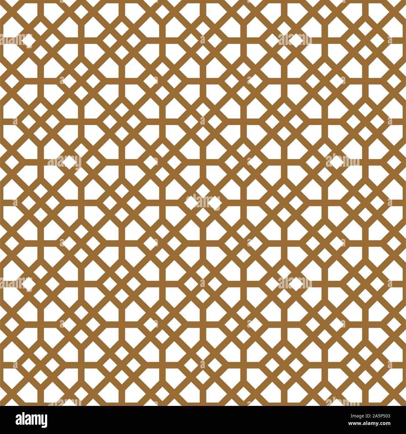 Seamless geométrico, gran diseño para impresión, lasercutting, grabado,envoltura.Pattern vector.fondo blanco y oro.líneas gruesas Ilustración del Vector
